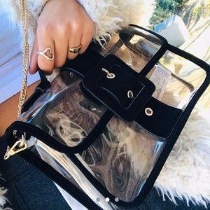 Clear Zara handbag